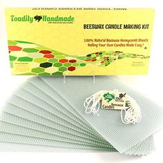 """Make Your Own Beeswax Candle Kit - Includes 10 Full Size 100% Beeswax Honeycomb Sheets in AQUA and Approx. 6 Yards (18 Feet) of Cotton Wick. Each Beeswax Sheet Measures Approx. 8"""" x 16 1/4"""". Toadily Handmade Beeswax Candles http://www.amazon.com/dp/B004QVVEIQ/ref=cm_sw_r_pi_dp_Nu4ywb1XN86SS"""