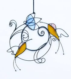 Suncatcher Stained Glass colibris oiseaux décoration