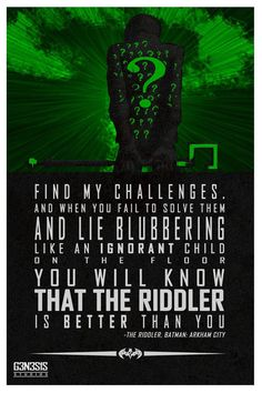 The Riddler quote