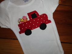 Truck load of Love Onesie on Etsy
