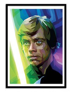 Art-Poster and prints Wall Editions : Luke Skywalker Star Wars Fan-Art, by Liam Brazier. Illustration Format : 50 x 70 cm.