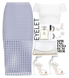 """""""Untitled #1799"""" by mihai-theodora ❤ liked on Polyvore featuring Chanel, T By Alexander Wang, Alice + Olivia, Dsquared2, Swarovski, tarte and Topshop"""