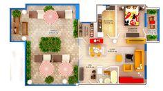 APARTAMENT LILY SKY - 2 CAMERE Suprafaţă construită: 56 mp Suprafaţă utilă: 45.57 mp Suprafaţă terasă: 55.50 mp Apartament disponibil doar la etajul 4 PRET: 46.900e + TVA 5% Apartments, Concept, Penthouses, Flats