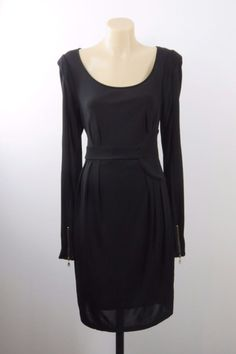 Size S 10 Witchery Ladies Black Dress Cocktail Vintage Gothic Wedding Design EUC    eBay