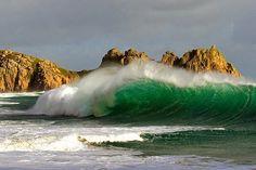 Porthcurno Beach, Cornwall England