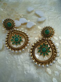 Emerald & Pearl Fusion by SonaliDesigns on Etsy, $75.00