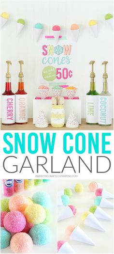 DIY Snow Cone Garlan