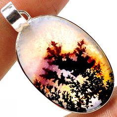 scentric dendritic agata 925 sterling silver by Metamorphosis313, $39.99