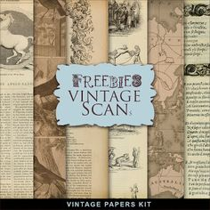 New Freebies Vintage Kit:Far Far Hill - Free database of digital illustrations and papers