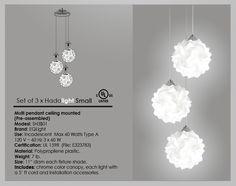 Set 3 X Hado Lampara Moderna Contemporanea Colgante Eqlight - $ 1,200.00 en MercadoLibre