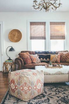 Bohemian Decorating Ideas Leather Sofa