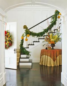 Fruit adds a ton of color in this foyer - Traditional Home®