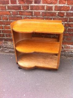 Deco Modernist. 1937. Quartersawn Oak trolley.