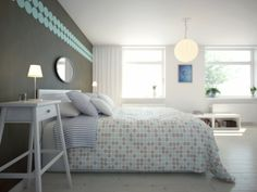 Einrichtungsideen Schwedische Wohndeko Schlafzimmer Bettdecke