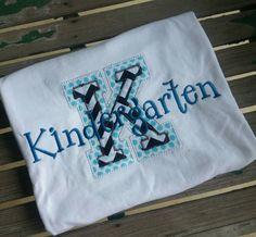 Kindergarten Teacher Shirt School shirt by trendyembroidery