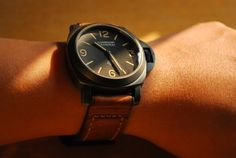 #black #panerai #watch #mens