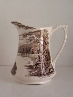 Antique Alfred Meakin Tintern England Brown Transferware Milk Jug    I love my Tinern; bought first two pieces at the Gloucester England ( nr Tesco's) car boot sale!   chw