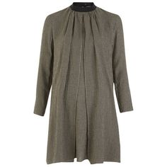 Maison Kitsuné Women's Woolly Check Voile Tunic Dress - Black: Image 01