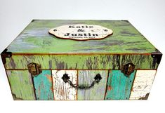 Wedding Card Box Heirloom Gift Personalized by DebbieSaenz on Etsy, $87.00