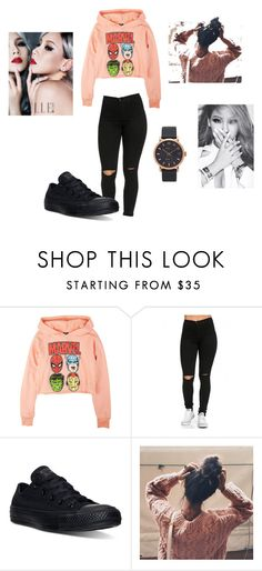 """morning call"" by pinocchiohyuk ❤ liked on Polyvore featuring Converse and Marc Jacobs"