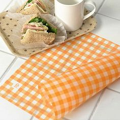 Lets make the bread! This paper absorb the oil and prevent the dough to stick on the oven pan. Also, can be used for wrapping a gift.  ** Orange check pattern prints are harmless when put the food on.  - includes : around 25 sheets - size : width 14.5 in x length 9.8 in (37 x 25 cm) - design and made/ Korea - materials : oil paper - item no. #PO-033  ----------------------------------------------------------------------------------------------- If you like this, check out this…