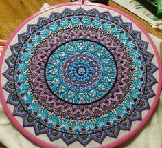 My Zenbroidery.  Embroidered by Danni Robison