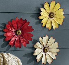 """Visit our website for even more relevant information on """"metal tree wall art decor"""". It is actually a great area to read more. Metal Wall Flowers, Tin Can Flowers, Paper Flowers, Large Metal Wall Art, Metal Art, Painted Metal, Wood Art, Red Paint, Metallic Paint"""
