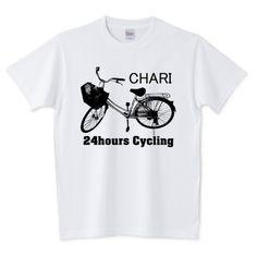 チャリT Tシャツ(ロゴ黒)   デザインTシャツ通販 T-SHIRTS TRINITY(Tシャツトリニティ)