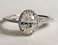 Beautiful Oval Halo Diamond Engagement Ring!