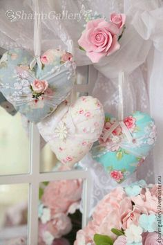 Instant shabby  chic ♥ plush pillows