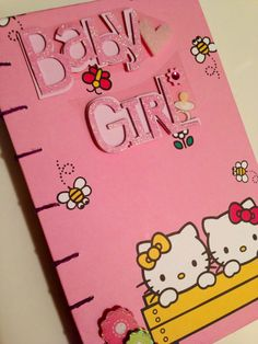 Baby Shower Guest Book - Hello Kitty Handmade Coptic Stitched Journal on Etsy, $26.00