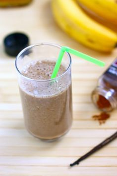 chai shakes;   2 large frozen bananas (if you want to use regular bananas, just add ice)  1 cup very strong brewed chai tea (2 teabags per cup of water)  1/2 cup almond milk   tiny pinch of cinnamon  tiny pinch of ground ginger  1 T pure maple syrup