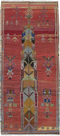Vintage Anatolian Gallery Carpet, No.20144 - Galerie Shabab