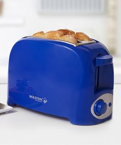 Holstein Housewares Blue Two-Slice Toaster Small Kitchen Appliances, Kitchen Items, Toaster, Minimalist Lifestyle, Cobalt Blue, Sapphire, Vibrant, Brown, House