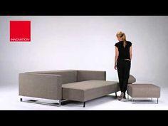 INNOVATION LIVING CASSIUS SLEEK EXCESS LOUNGER SOFA BED Sofa Bed Video, Innovation, Videos