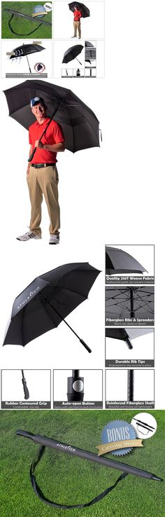 Golf Umbrellas 18933 Golf Umbrella Large Double Canopy Black Windproof Automatic Open For Rain Sun  sc 1 st  Pinterest & Golf Umbrellas 18933: Taylormade 64 Golf Umbrella Double Canopy ...
