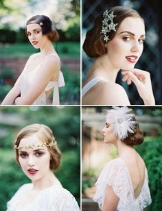 1920's inspired hairpieces from Enchanted Atelier