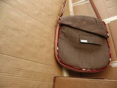 Messenger bag from Recovered Fabrics by Carro Photo