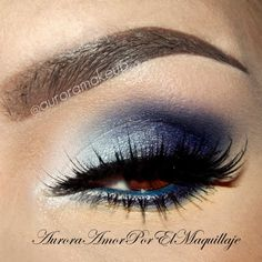 Navy blue eye shadow: Perfect regardless of the shade of your eyes. Constantly find myself relying on dark blues to enhance my hazel eyes and create a classy evening look. Navy Blue Makeup, Grey Eye Makeup, Eye Makeup Tips, Makeup For Brown Eyes, Smokey Eye Makeup, Beauty Makeup, Makeup Eyeshadow, Makeup Ideas, Blue Eyeshadow For Brown Eyes