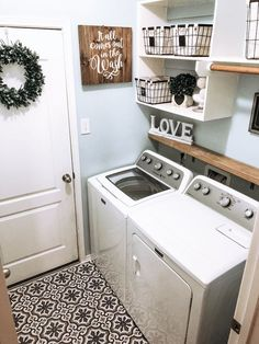 48 brilliant laundry room ideas for small spaces practical & efficient 2020 24 Source by home decor crafts small spaces Tiny Laundry Rooms, Laundry Room Remodel, Laundry Decor, Laundry Room Signs, Laundry Room Organization, Laundry In Bathroom, Decorate Laundry Rooms, Laundry Room Shelving, Small Laundry Area
