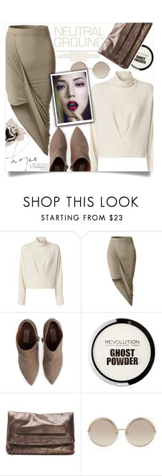 """""""Standing the Neutral Ground - Cool Neutrals"""" by yoo-q ❤ liked on Polyvore featuring IRO, LE3NO, Valentino, Donald J Pliner, Marc Jacobs, neutrals, contestentry and falltrend"""