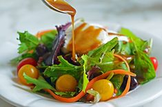 TESTED & PERFECTED RECIPE- Tangy and a touch sweet, this is a great all-purpose balsamic vinaigrette that's delicious on any salad. Best Salad Recipes, Salad Dressing Recipes, Chicken Salad Recipes, Vegetarian Recipes, Cooking Recipes, Healthy Recipes, Salad Dressings, Chef Recipes, Diabetic Recipes