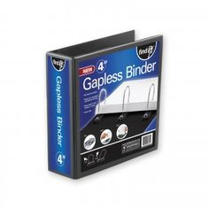 """A true """"Gapless"""" binder! Patent pending, one-piece rings have no gaps and will never develop them, so pages always flow smoothly, even when loaded with paper."""