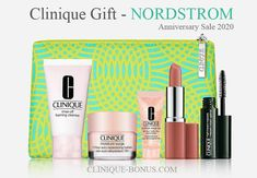 It's live now: Spend $29 and receive this 6-pc Clinique gift at Nordstrom during the Anniversary Sale.  There are also Lancome, Estee Lauder and more beauty gifts. Nordstrom Credit, Clinique Gift, Estee Lauder Gift, August 19, Nordstrom Anniversary Sale, Debenhams, Lancome, Card Holders, Cosmetic Bag