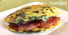 No Bread Bacon & Egg Sandwich from http://meatified.com #paleo #glutenfree