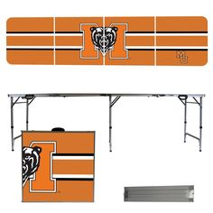 Mercer University Bears 8 Foot Portable Tailgate and Pong Table