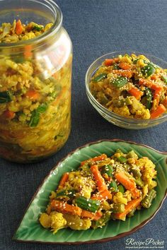 This easy achar recipe with Indonesian flavours, makes the best spicy mixed vegetable pickle you have ever tasted. Healthy Dinner Recipes, Indian Food Recipes, Asian Recipes, Vegetarian Recipes, Ethnic Recipes, Asian Desserts, Asian Cooking, Easy Cooking, Cooking Recipes