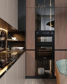 How To Incorporate Contemporary Style Kitchen Designs In Your Home Kitchen Room Design, Luxury Kitchen Design, Kitchen Cabinet Design, Luxury Kitchens, Home Decor Kitchen, Kitchen Living, Interior Design Kitchen, New Kitchen, Home Kitchens