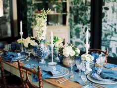 Party Decoration, Wedding Decorations, Table Decorations, Mod Wedding, Blue Wedding, Wedding Shoes, Wedding Ideas, Wedding Trends, Wedding Blog