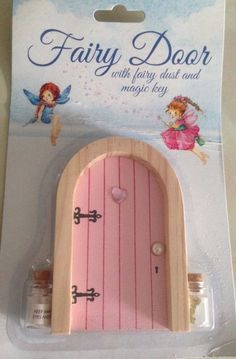 Pink Fairy Door With Fairy Dust and Magic Key 11 cm High Wooden | Collectables, Fantasy/Myth/Magic, Mythical Creatures | eBay!